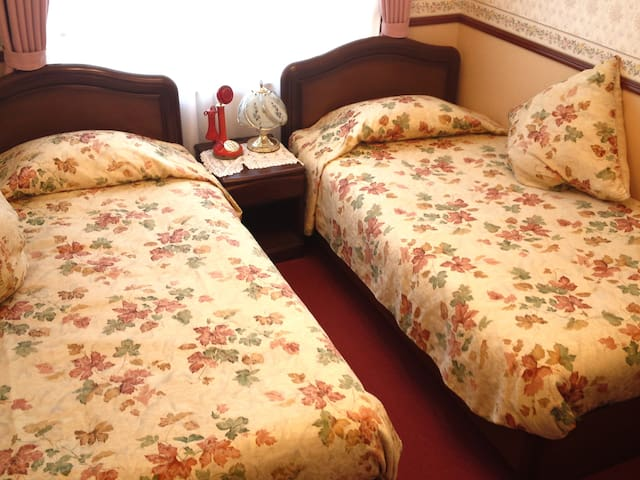 Twin Room with Private Bathroom - Non-Smoking : If you need a bed, you can also choose a bedroom. (Exceptions apply depending on the day.)