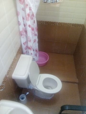 A section of the private washroom.