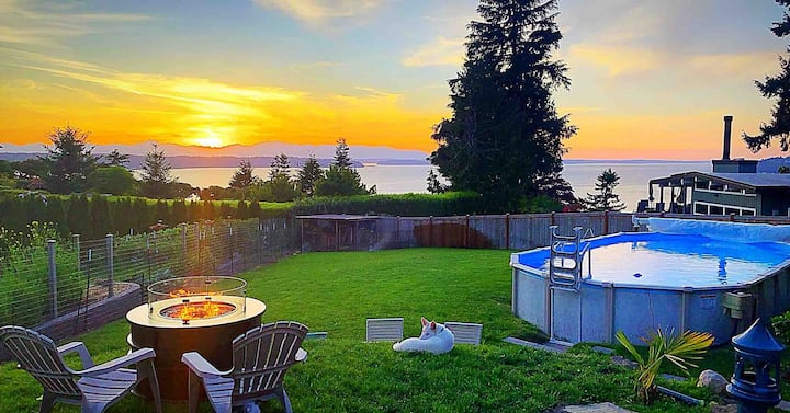 Ocean View Three Tree Terrace Heated Pool & HotTub