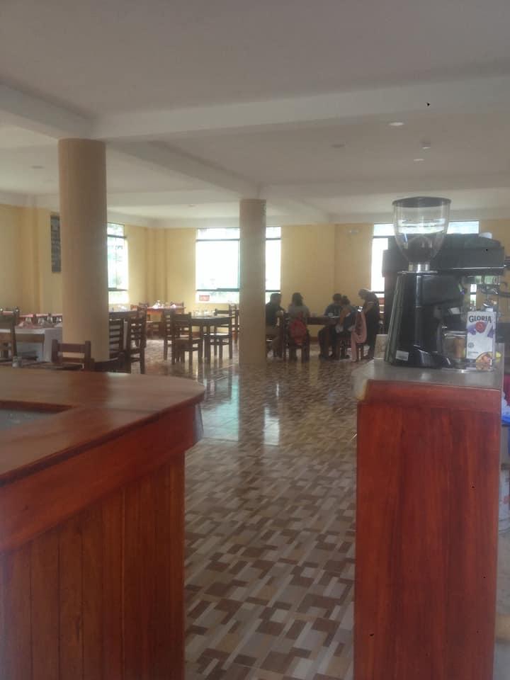 Local hostel and  Valle Santa Restaurant&coffee