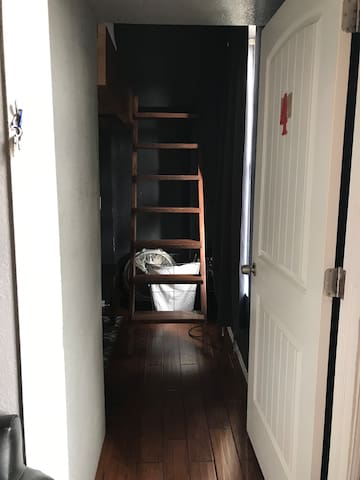 #4 ladder up to king size loft bed