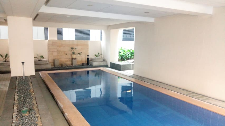 Tranquil swimming pool suitable for long distance and lap swimming