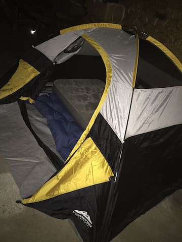 Camping in a tent. You brave soul!