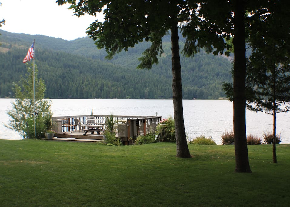 View from house, deck and Twin Lakes