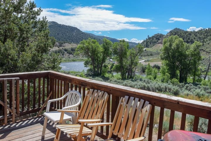 Yurt 7 in Rockies on Colo River at State Bridge