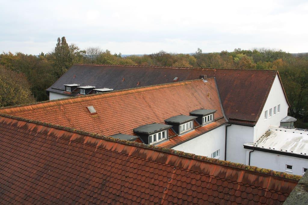 Über den Dächern der Heilstätte Harzgerode
