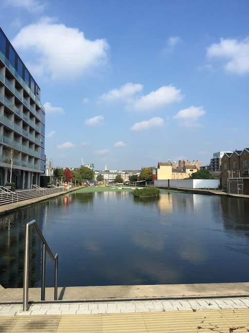 The block is right on the Regent's Canal