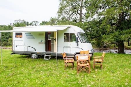 Large camper van near Trough of Bowland