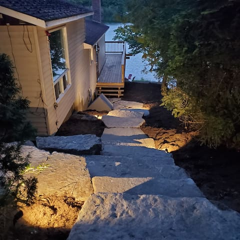The steps from the driveway to the main door.