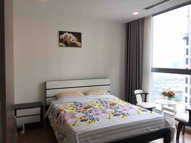 VINHOME Quiet Elegant Master Room*River View*Gym