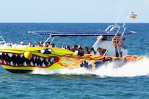 barco-taxi de la isla de Tabarca - Boat-taxi island of tabarca