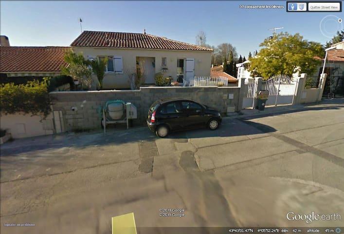 Villa avec une chambre, télévision - Vérargues
