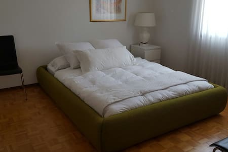 Queen size bed in a nice size BRoom - Brossard