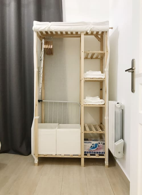 Closet of the second bedroom
