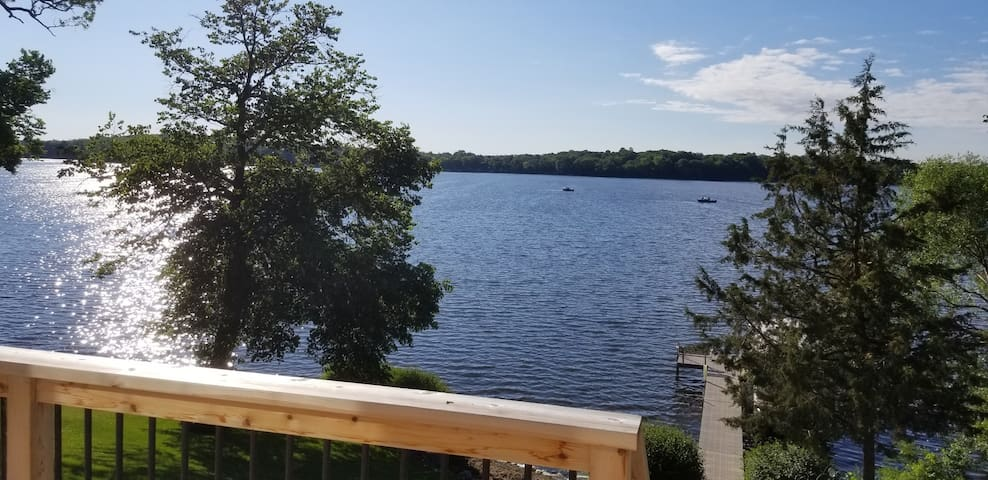 Look out from the deck and feel like you are 200 miles further North.   Briggs is a great fishing lake.  Some of the best fishing is just 200 yards from the end of the dock.