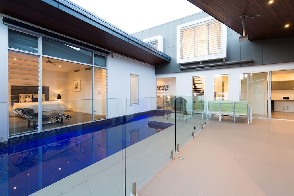 Master overlooking pool