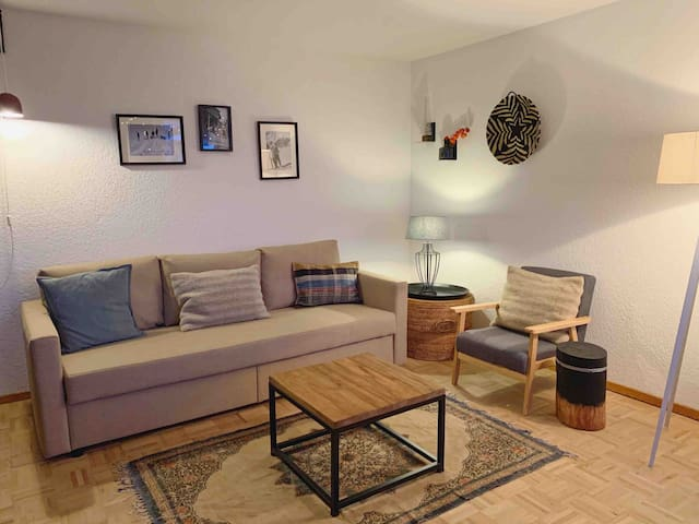 Boutique Apartment des Alpes + sauna+ parking