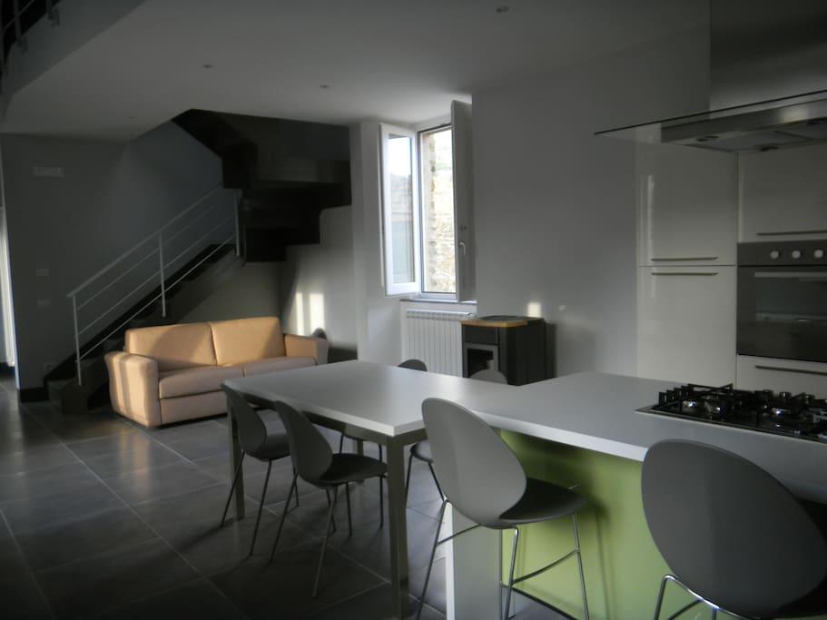 cucina soggiorno, living room