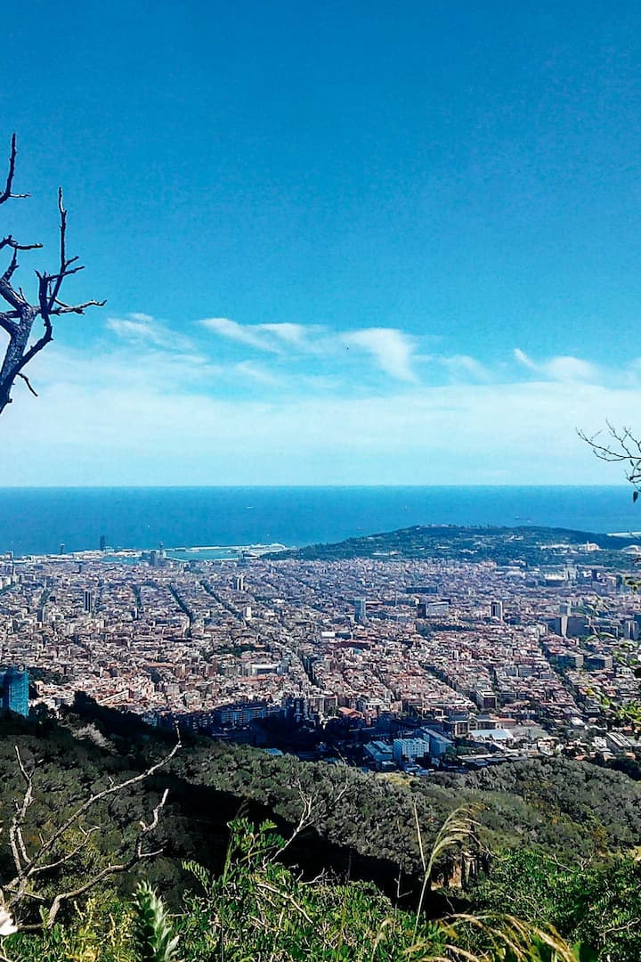 Barcelona from the Tibidabo Hill