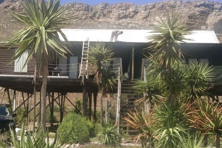 Rustic Wooden Log-Cabin on Stilts in Elands Bay