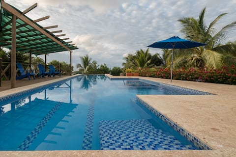 Relaxing Tropical Island Chalet w/ Private Pool and Beach in Baru