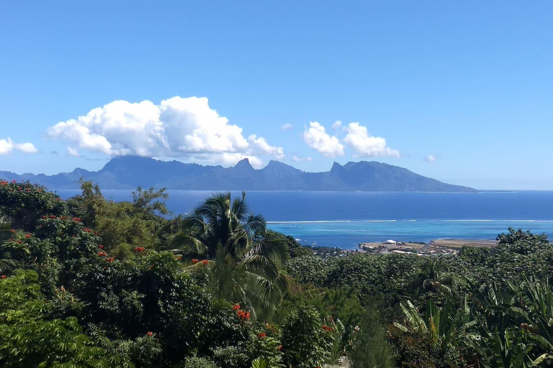 Vu magnifique sur l'île de Moorea.