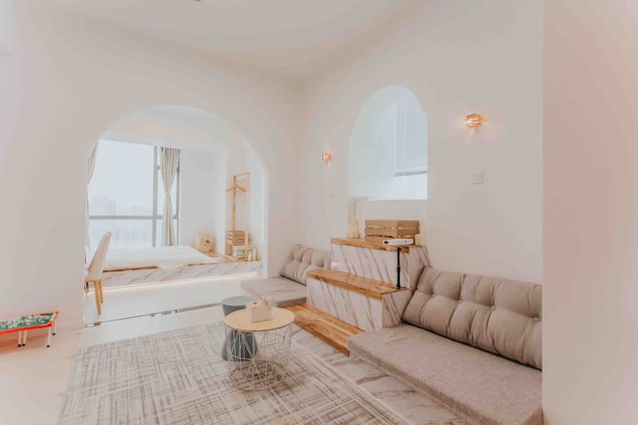 「小米粒的Morocco」五一广场浴缸江景落地窗巨幕投影两房