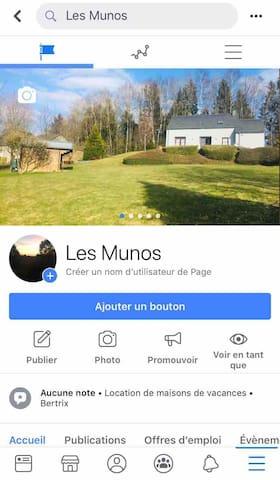 Venez nous rejoindre sur notre page Facebook Les Munos , beaucoup d'autres publications et photos pour votre séjour