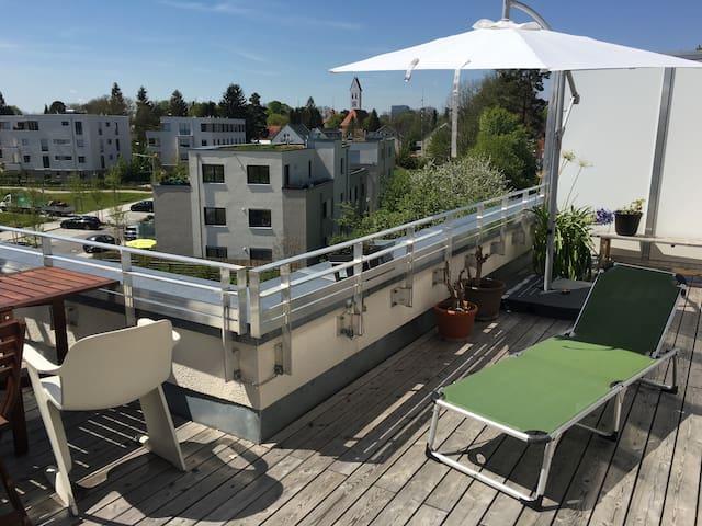 2 Zi Dachterassentraum nahe Isar - Munich