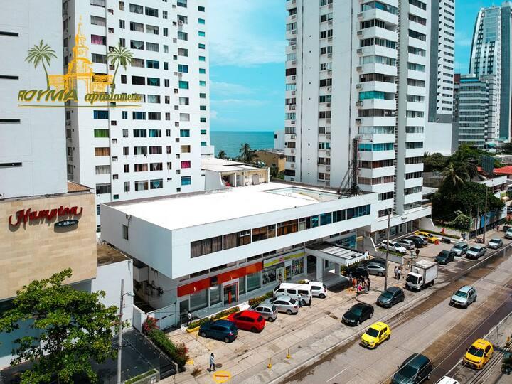 Apto con wifi en Cartagena a 100M de la playa