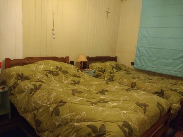 Alojamiento en casa, dos camas