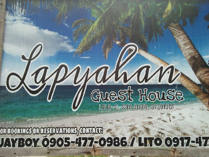 Lapyahan GH Beach front, White sand,  Sunset view