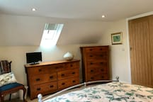The Bankhouse Mews - Master Bedroom with a comfortable King Size bed, wardrobe and chest of drawers and a fold down single high quality ZBed (if required),
