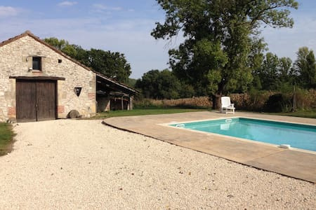 Rural Gite with Pool - Saint-Aubin - 小平房