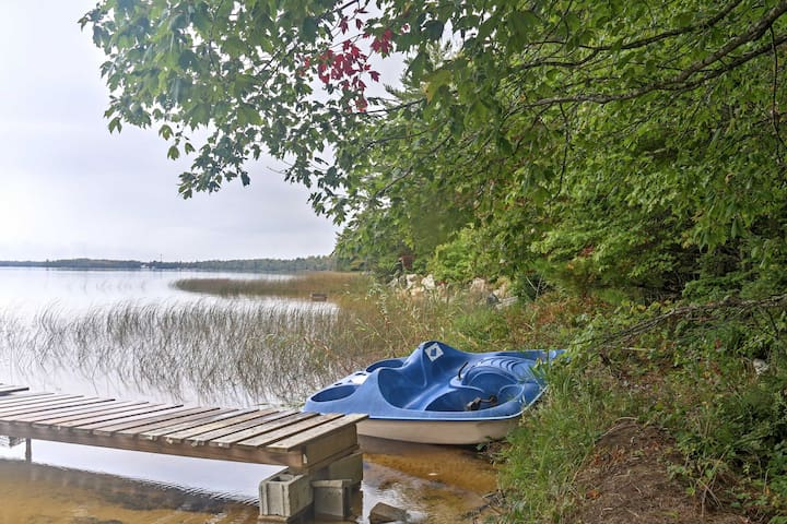 Rustic Lakefront Gould City Cabin w/Rowboat & Dock