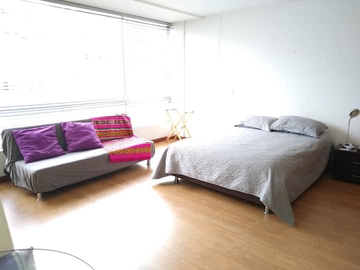 Loft ideal para trabajar desde casa, o descansar.