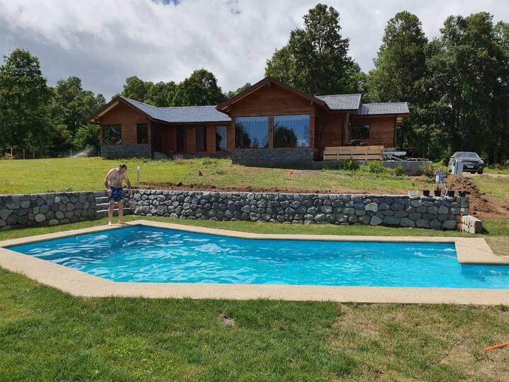 Parcela con piscina  Eclipse Pucón 2020