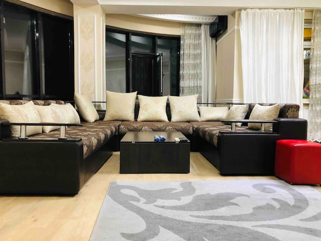 Luxury apartment duplex penthouse in city center .