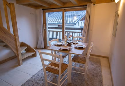 New flat in Les Praz with amazing view to MB - Chamonix-Mont-Blanc
