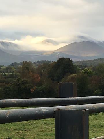 The galtee mountains in Autumn