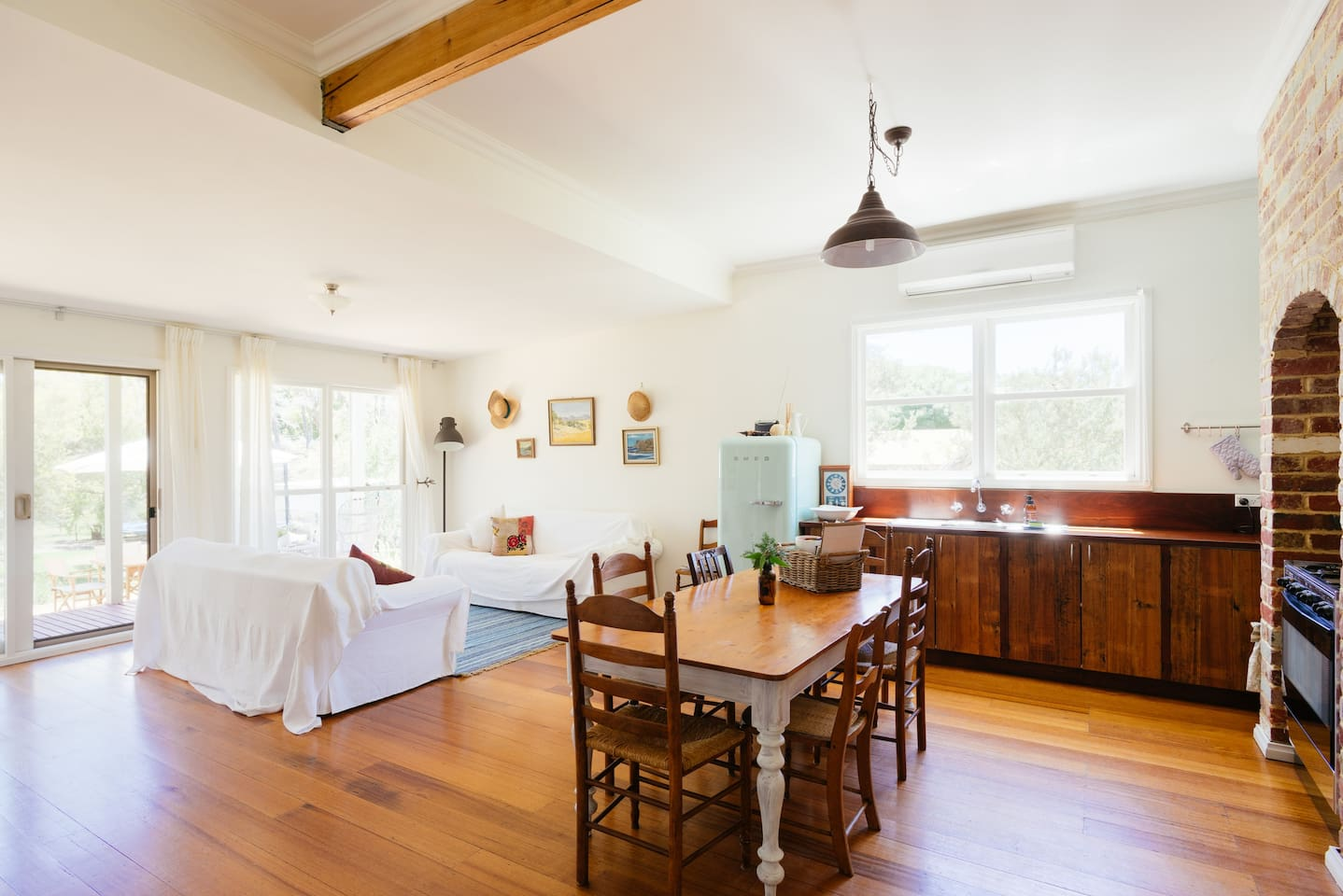 Sunny kitchen and main living area
