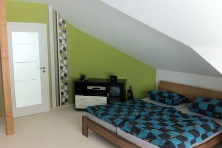 Gästezimmer mit Couch und Bad - Schneeberg - Haus