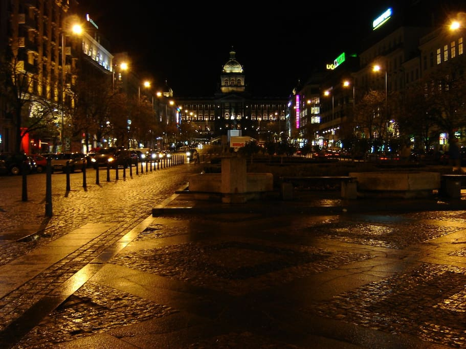 Venceslas square just 3 minutes from flat