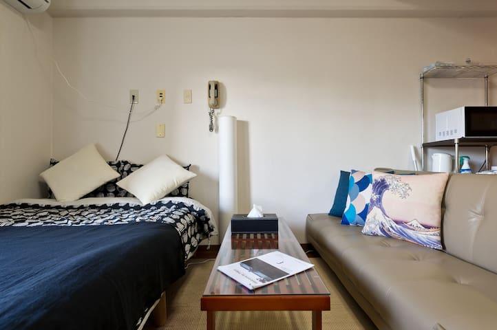 东京 离西日暮里站最近!上野、秋叶原、池袋想去就去!可容纳3人的单卧房型!免费wifi