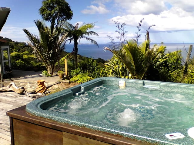 READ REVIEWS/SPA/NATIVE BUSH/PRIVATE/WIDE SEA VIEW - Tuateawa - Huis
