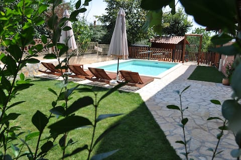 New rustic app Oliva 2 with swimming pool and gym