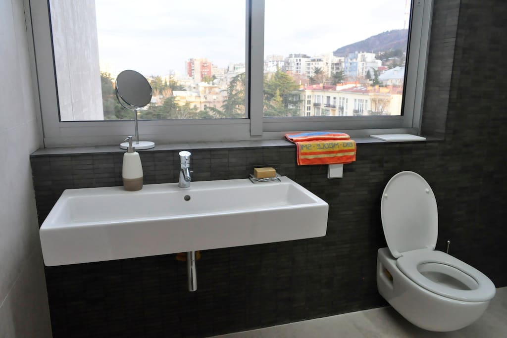Private bathroom with a view