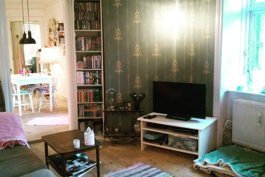 Livingroom with cable TV