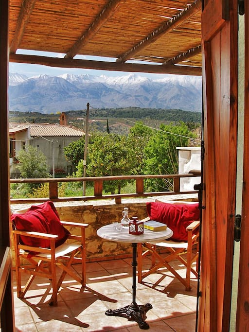 Read your favorite book, enjoy a glass of wine or just feel the mountain breeze from our lovely balcony
