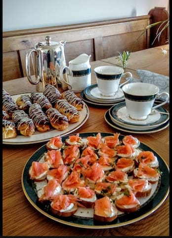 Afternoon tea in Margaret's Cottage, always for B&B guests and also by appointment, if you call us.
